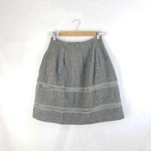 Madewell Grey Wool Blend A-line Skirt Size 0